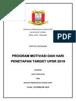 Kertas Kerja Program Penetapan Target Upsr