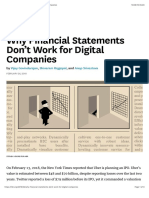 HBR - Why Financial Statements Don't Work for Digital Companies