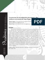 Procesos de Investigacion Sincronicos y Diacronicos