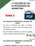 Tema 5 Diseño y Gestión de Los Canales Integrados de Marketing