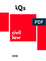 Civil Law Frequently Asked Questions in the BAR