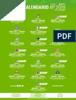 Calendario FC Bravos AP2019