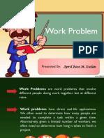Work Problem APRIL