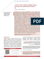 D Quality of Life in Type 2 Diabetes Mellitus Patients