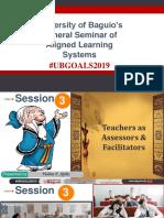 Teachers As Assessors & Facilitators