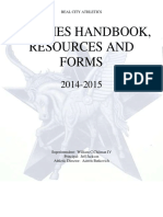 Coaches Handbook, Resources and Forms 14-15