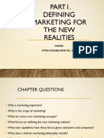 1. Defining Marketing for the New Realities