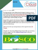 Ac Exam PDF 2019 - Jan to May