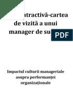 Cultura Manageriala