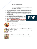 Electrical Safety Data