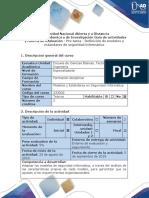 Guía de actividades y rúbrica de evaluación - Pre tarea - Definición de modelos y estándares de seguridad informática