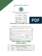 Informes Proceso de Inscripción por Cursos