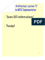 Multicycle implementation of MIPS