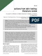 skin prick test