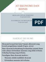 Ch 4 Hakikat Ekonomi Dan Bisnis