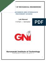 GNIT FM HM Lab Manual