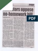 Tempo, Aug. 28, 2019, Educators oppose no-homework bill.pdf