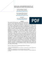 Synchronization and Harmonization of Law Regulation Designs in Executive Institutions