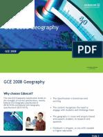 Ed Excel g Ce Geography Presentation
