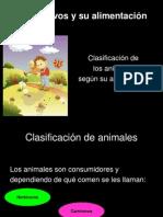 Clasificación de los seres vivos segun su alimentación