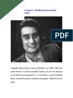 Leopoldo Maria Panero El Ultimo de Los Poetas Malditos en Europa