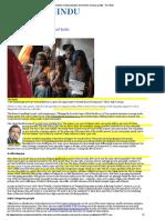 Sachin Gupta Mihir Shah Writes on Tribal Alienation and Need for Inclusive Growth - The Hindu