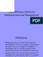 Admin vs Management