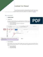 Academic User Manual