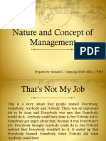 1. Nature and Concept of Management