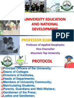 University Education and National Development - Professor Elijah Ayolabi.ppt