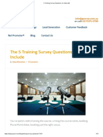 The 5 Training Survey Questions You Must Include