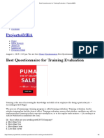 Best Questionnaire for Training Evaluation