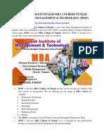 Mba College in Punjab