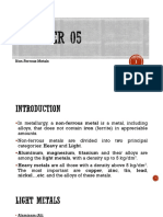 Chapter 05 - Non-Ferrous Metals