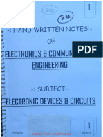 Electronic devices and circuits notes for GATE exam ECE