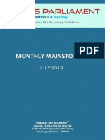 Monthly Mainstorming July 2019 Www.iasparliament.com