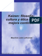 Kaizen Filosofía- Cultura y Ética de La Mejor
