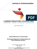 Career Creators Gender Differences in Communication