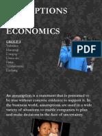 Assumptions in Economics