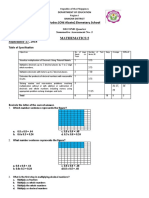 3rd Summative Test Math 5