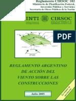 CIRSOC 102-2005 - Accion Del Viento Sobre Las Construcciones