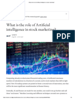 What is the Role of Artificial Intelligence in Stock Marketing