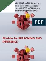 LOGIC Module 3 Inference
