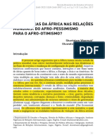 África Nas Relações Internacionais
