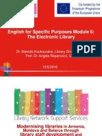 English for Specific Purposes Module 6