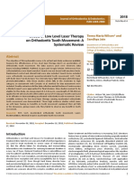 Effects of Low Level Laser Therapyon Orthodontic Tooth Movement Asystematic Review