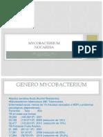 Generos Mycobacterium Nocardia y Actinomyces