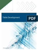 Actuarial table development