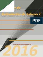 Resumen Completo Articulación de Saberes I - Julio 2016