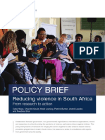Reducing Violence in South Africa